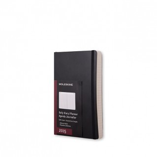 2015 Diary Daily Black Large Softcover