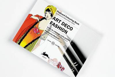 Art Deco Fashion - 20 Superior Watercolour Cards: Postcard Colouring Book