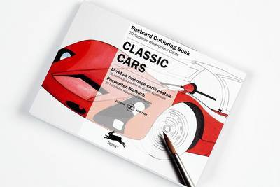 Classic Cars: 20 Superior Watercolor Cards (Colouring Postcard Book)