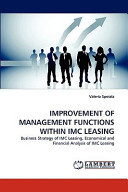 Improvement of Management Functions Within Imc Leasing