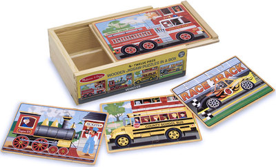 Vehicles Puzzles in a Box