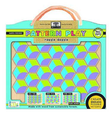 Green Start Pattern Play Wooden Puzzles: Razzle Dazzle (Mix and Match Mosiac Puzzles)