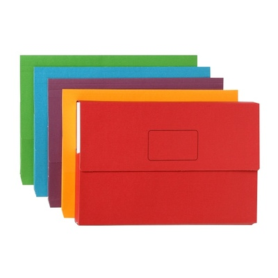Document Wallet FC Assorted Bright Colours pk10 (4004399)