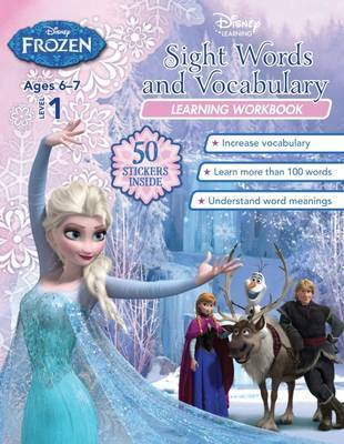 Disney Frozen Sight Words and Vocabulary - Learning Workbook