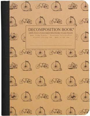 NOTEBOOK - Vintage Bicycles Decomposition  Large Ruled