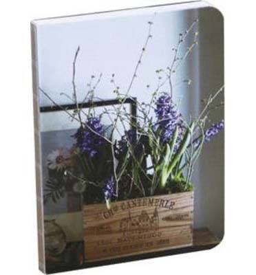 Country Flowers Mini Notebook: Exposed Binding, Hardcover, Ribbon Marker