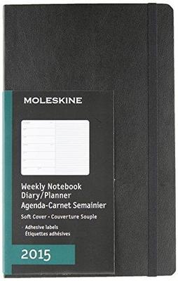 2015 Diary Weekly w/Notes Black Large Softcover