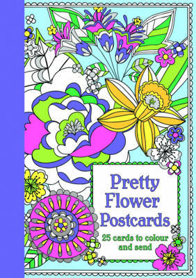 Pretty Flower Postcards Colouring Book