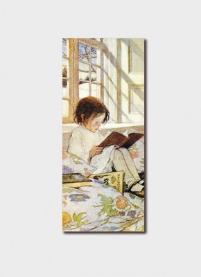 child reading bookmark