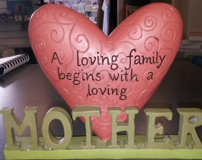 Mother Plaque with Large Heart
