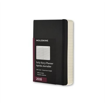 2016 Moleskine Diary Black Daily Pocket Softcover