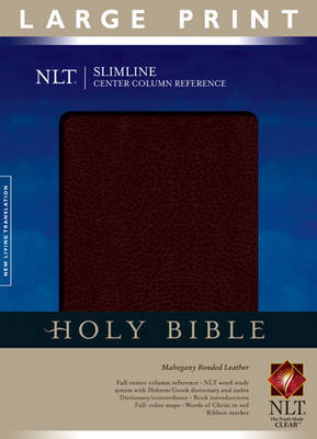 Slimline Center Column Reference Bible-NLT-Large Print