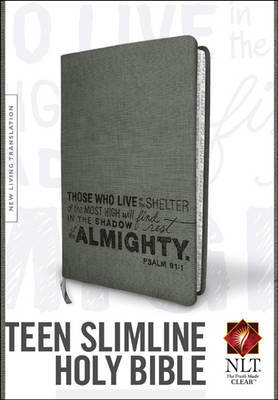 Nlt Teen Slimline Psalm 91 Imitation Leather Charcoal