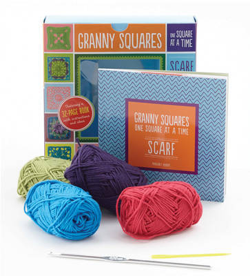 Granny Squares, One Square at a Time: Includes Hook and Yarn for Making a Granny Square Scarf - Featuring a 32-Page Book with Instructions and Ideas