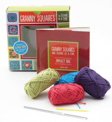 Granny Squares, One Square at a Time / Amulet: Includes Hook and Yarn for Making Two Amulet Bag Necklaces - Featuring a 32-Page Book with Instructions and Ideas