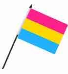 """Flag – Pansexual on Stick 4"""" x 6"""""""