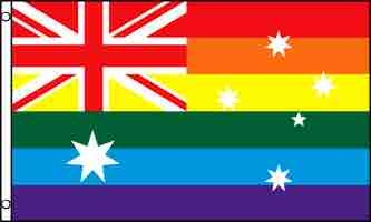 Flag – Rainbow Australia (3ft x 5ft)