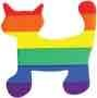 Sticker – Rainbow Cat Cut Out