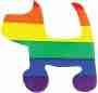 Sticker - Rainbow Dog Cut Out