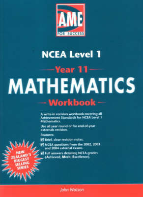 Mathematics AME Year 11 (NCEA Level 1) Workbook - USE 2008 EDITION 9781877459214