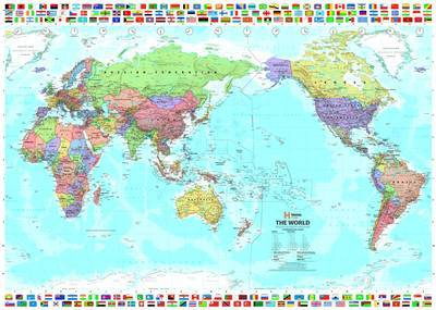 World & Flags Laminated