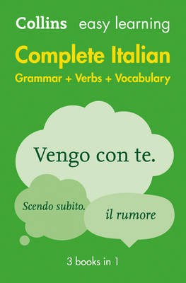 Collins Easy Learning Complete Italian Grammar Verbs and Vocabulary 1st Edition (Superceded)