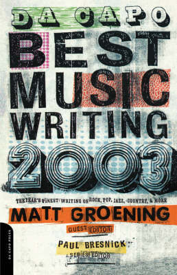 DA Capo Best Music Writing 2003 Vol 4