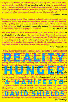 Reality Hunger: A Manifesto