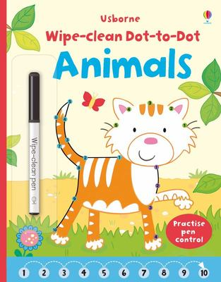 Animals Dot-to-Dot (Usborne Wipe-Clean)