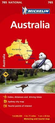 AUSTRALIA MICHELIN MAP