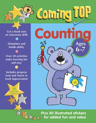 Coming Top: Counting - Ages 6-7: 60 Gold Star Stickers - Plus 30 Illustrated Stickers for Added Fun and Value