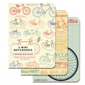Vintage Bicycles 3 Mini Notebooks
