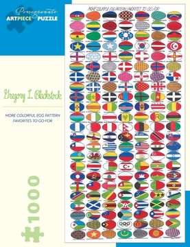 Gregory L Blackstock: More Colorful Egg Pattern Favourites to go for 1,000 Piece Jigsaw Puzzle