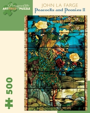 Peacocks And Peonies 500 Piece Jigsaw Puzzle