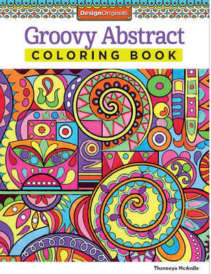 Groovy Abstract Colouring Book