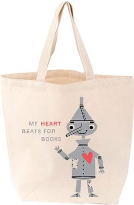 "Tin Man ""My Heart Beats for Books"" (Little Tote)"
