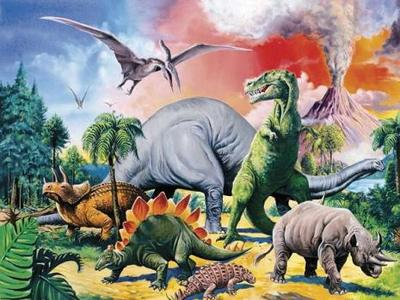 Among the Dinosaurs Puzzle 100pcs
