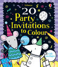 20 Party Invitations to Colour (Usborne)