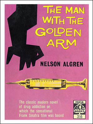 Man With The Golden Arm Book Jacket Saul Bass Poster