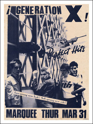 Generation X at the Marquee Club London Poster