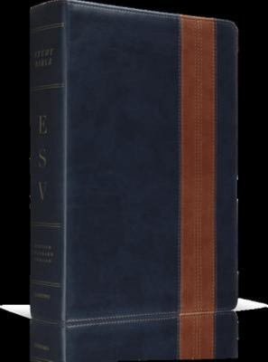 ESV Study Bible Navy Tan