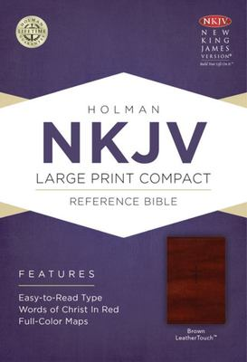 NKJV - Large Print Compact Reference Bible (Brown)