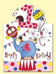 1 Today Happy Birthday: Elephant, Heart Card