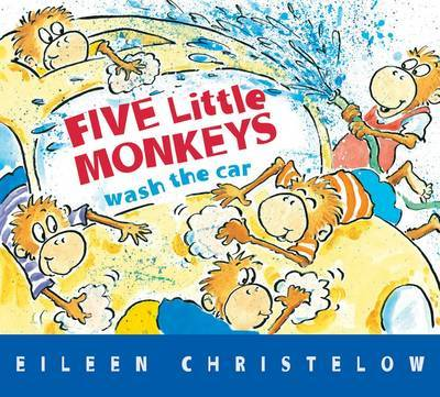 Five Little Monkeys Wash the Car (Board Book)