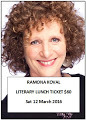 Ramona Koval Literary LunchTICKET SALES CLOSED
