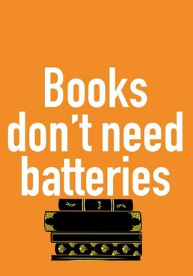 Card - CTCWW1041 Books Don't Need Batteries