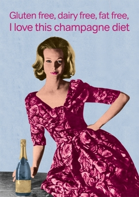 Blank Card Champagne diet (CTC LRF0857)