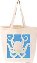 Large octopus tote