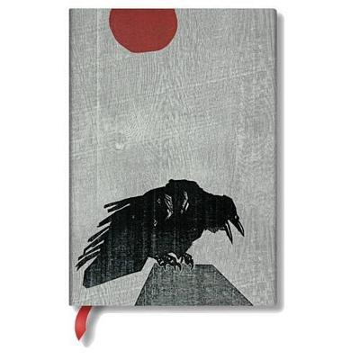 Crow with Red Sun Midi Unlined