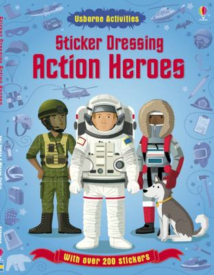 Action Heroes (Usborne Sticker Dressing)
